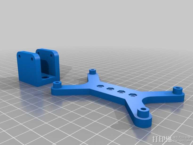挤压器 3D打印模型渲染图