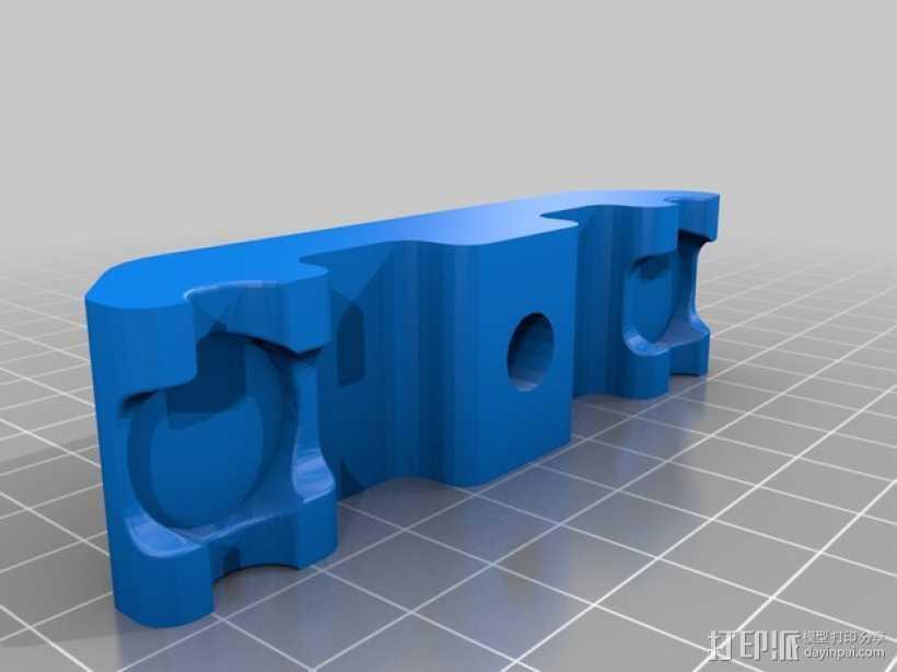 垂直面板适配器 3D打印模型渲染图
