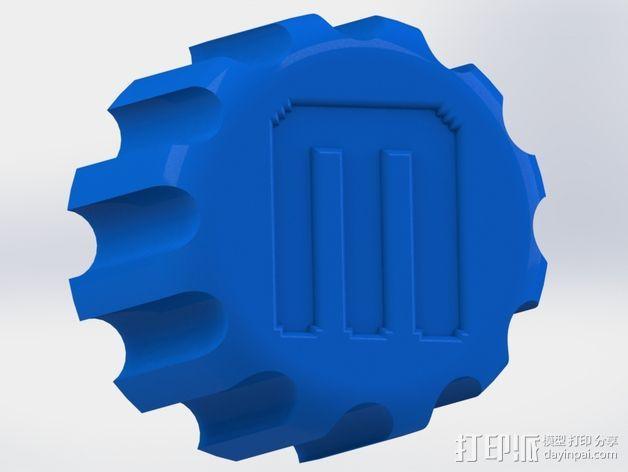 多功能的旋钮 3D打印模型渲染图