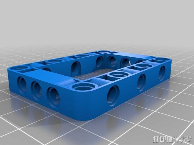 乐高发动机 3D打印模型渲染图