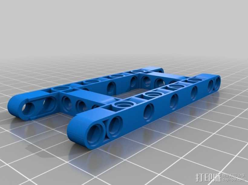 乐高汽车 3D打印模型渲染图