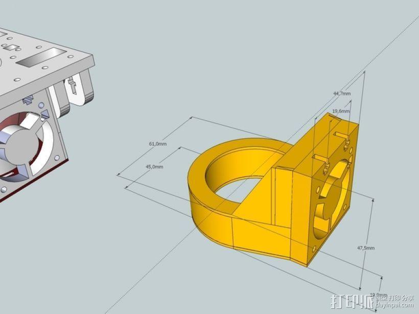 冷却风扇 3D打印模型渲染图
