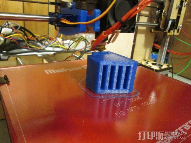 SD卡收纳器 3D打印模型渲染图