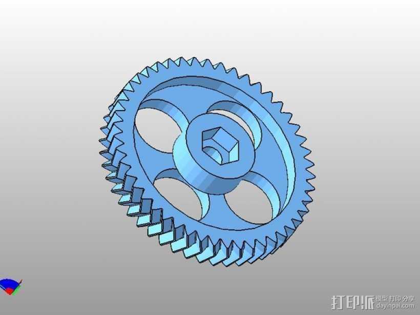 齿轮 3D打印模型渲染图