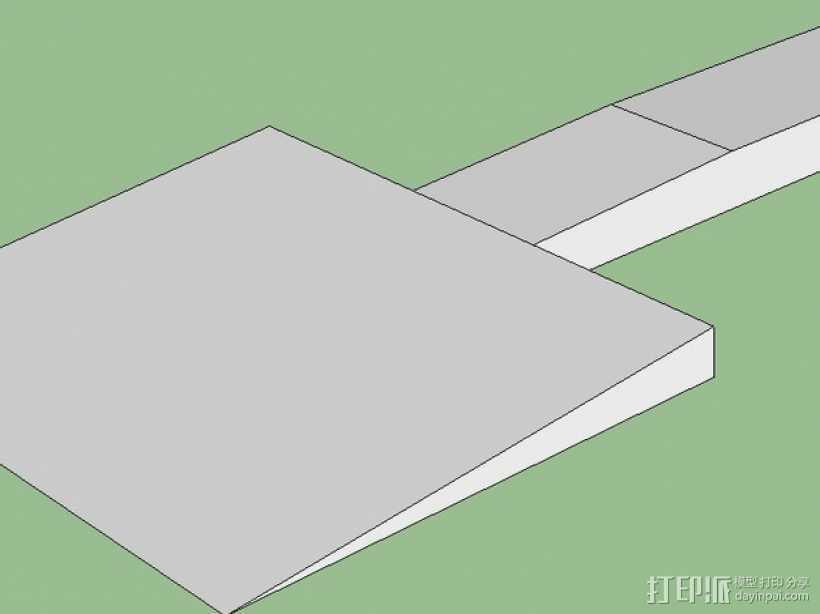 机床刮刀 3D打印模型渲染图