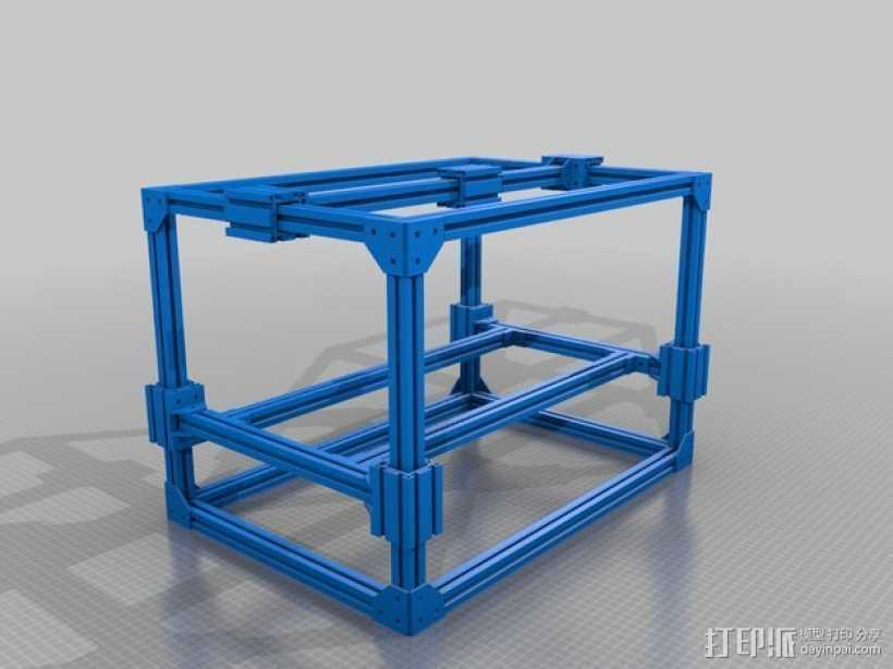 3D打印机框架 3D打印模型渲染图