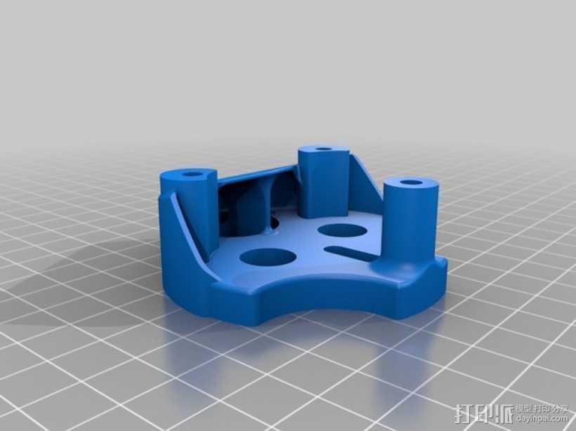 挤压器挂载 3D打印模型渲染图
