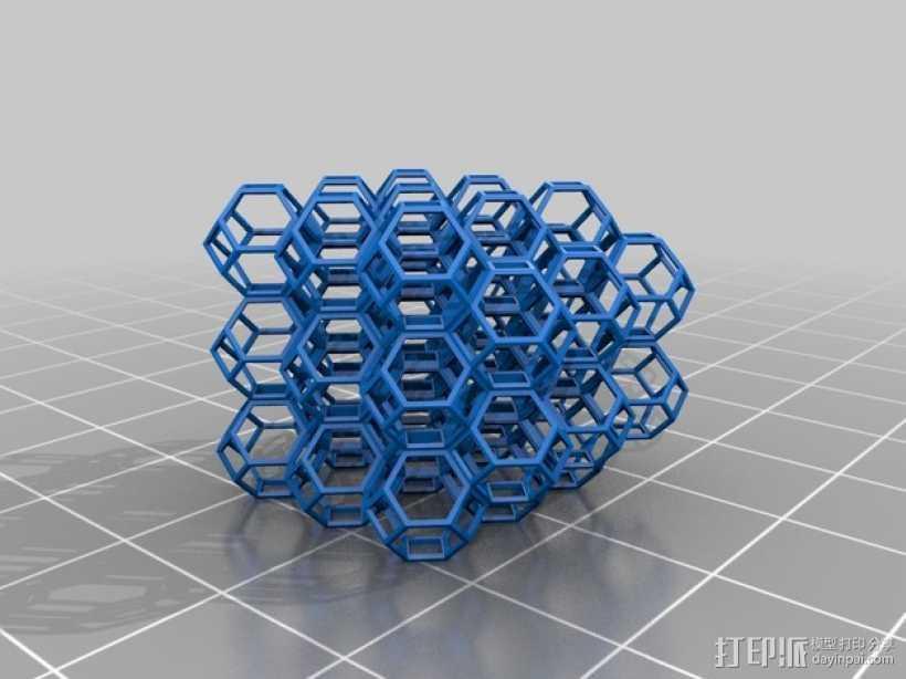 蜂巢 3D打印模型渲染图