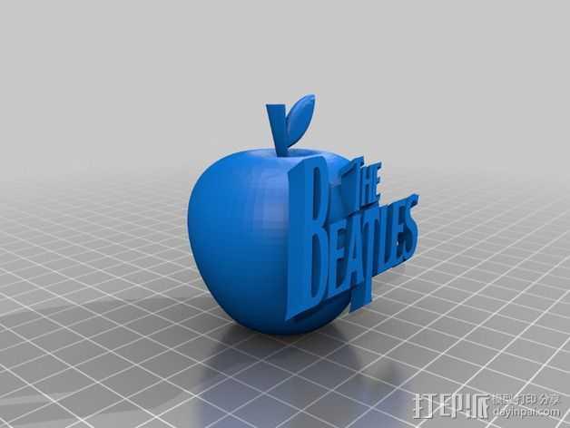 苹果摆件 3D打印模型渲染图