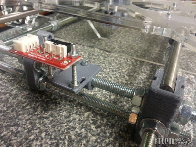 可调节Y轴适配器 3D打印模型渲染图