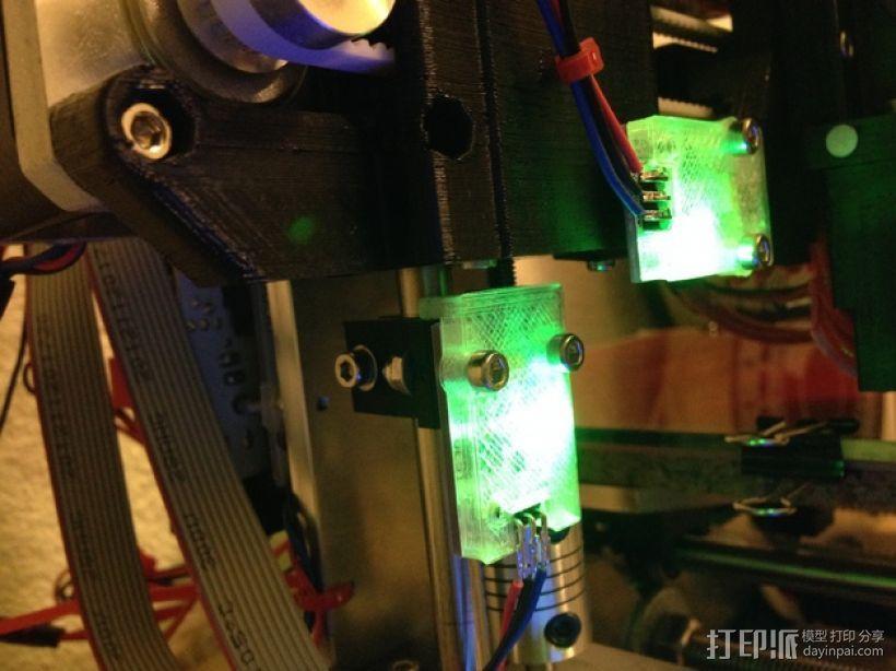 保护器 3D打印模型渲染图