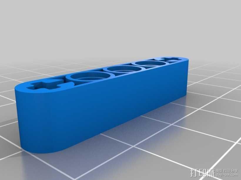 乐高臂梁 3D打印模型渲染图