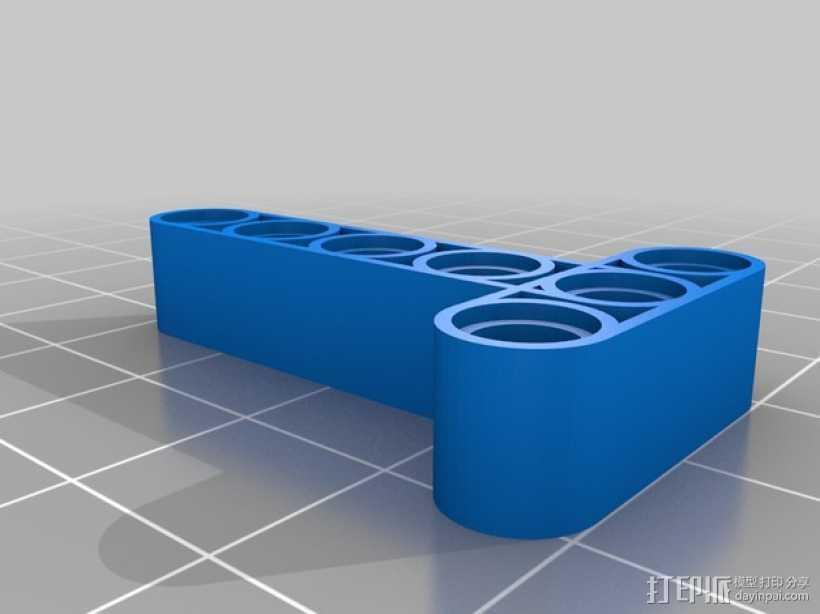 乐高T形适配器 3D打印模型渲染图