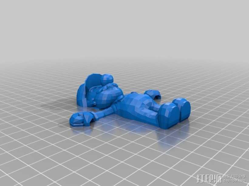 马里奥摆件 3D打印模型渲染图