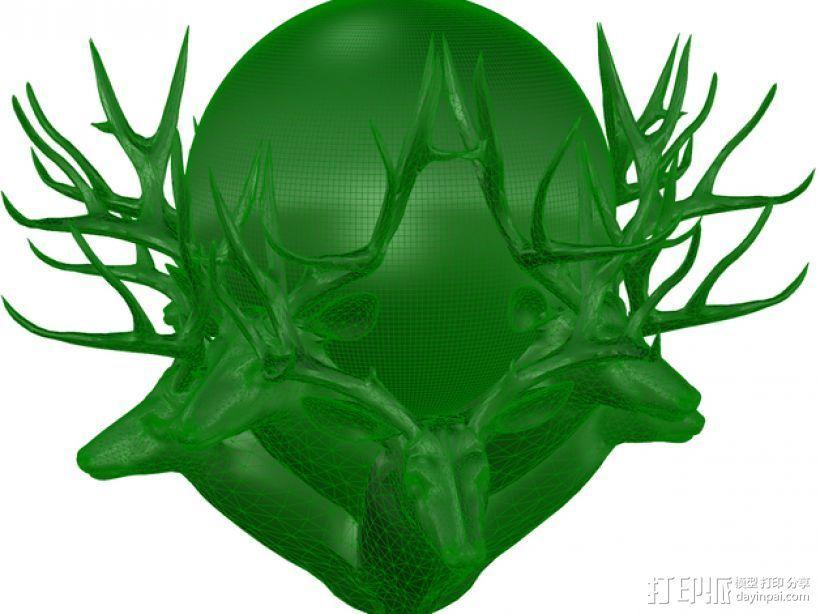 驯鹿 3D打印模型渲染图