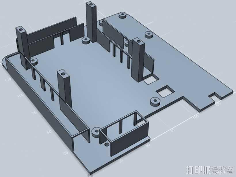 电线管道 3D打印模型渲染图