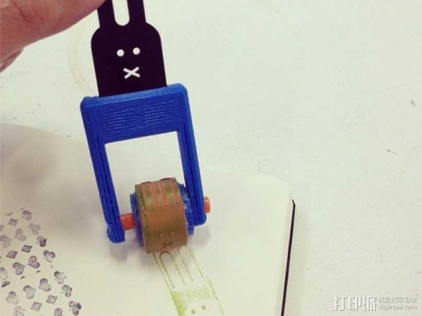 印花滚轴 3D打印模型渲染图