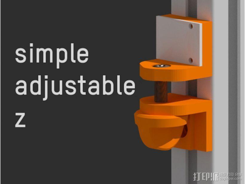 简易Z轴适配器 3D打印模型渲染图