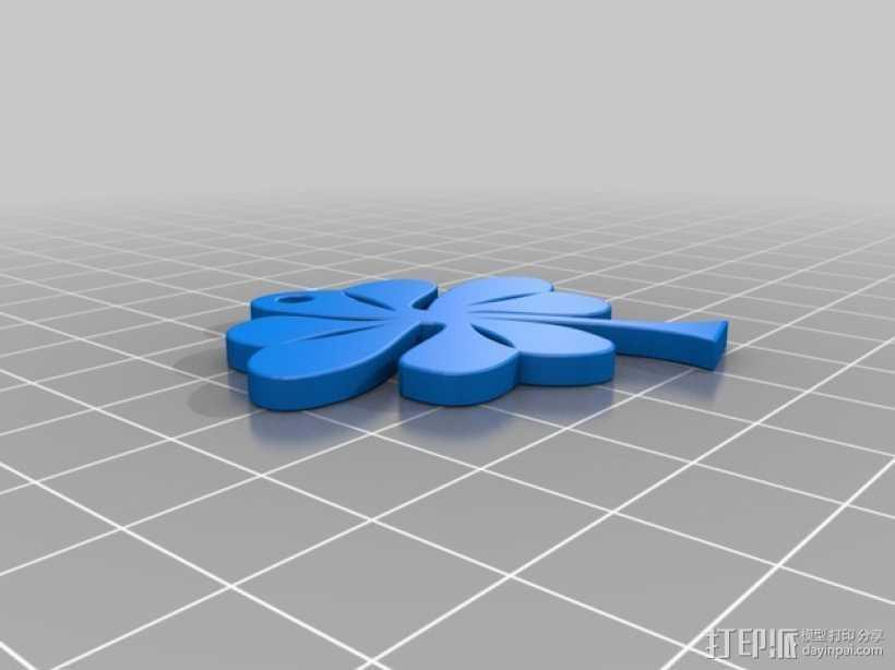 四叶草摆件 3D打印模型渲染图