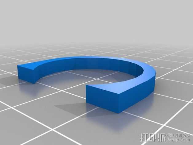 挤出器垫片 3D打印模型渲染图