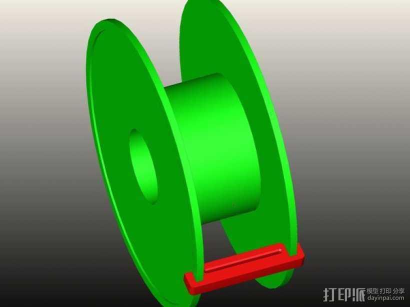 灯丝线轴 3D打印模型渲染图