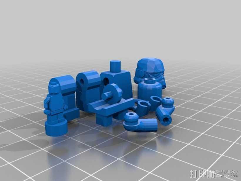 乐高人物摆件 3D打印模型渲染图