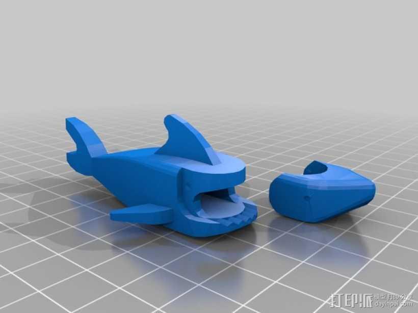 乐高鲨鱼摆件 3D打印模型渲染图
