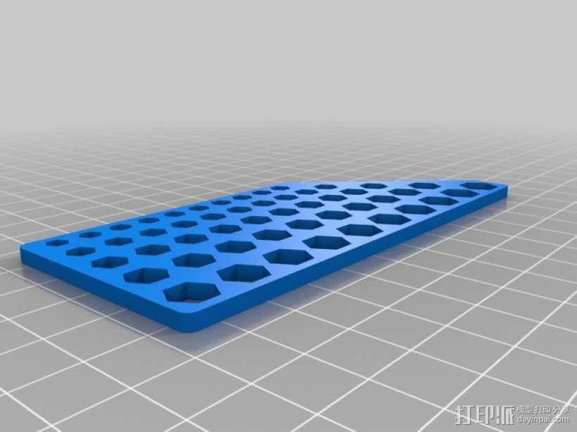 六边形校准器 3D打印模型渲染图