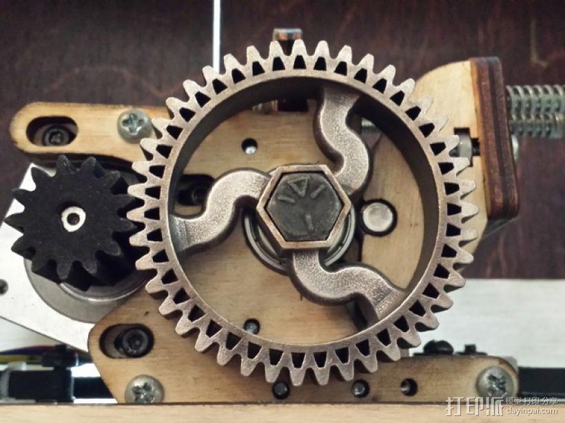 挤出器齿轮 3D打印模型渲染图