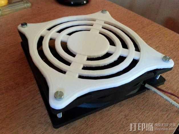 风扇保护器 3D打印模型渲染图