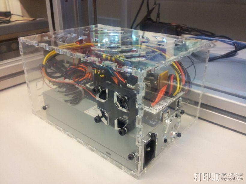 3D打印机盖子 3D打印模型渲染图