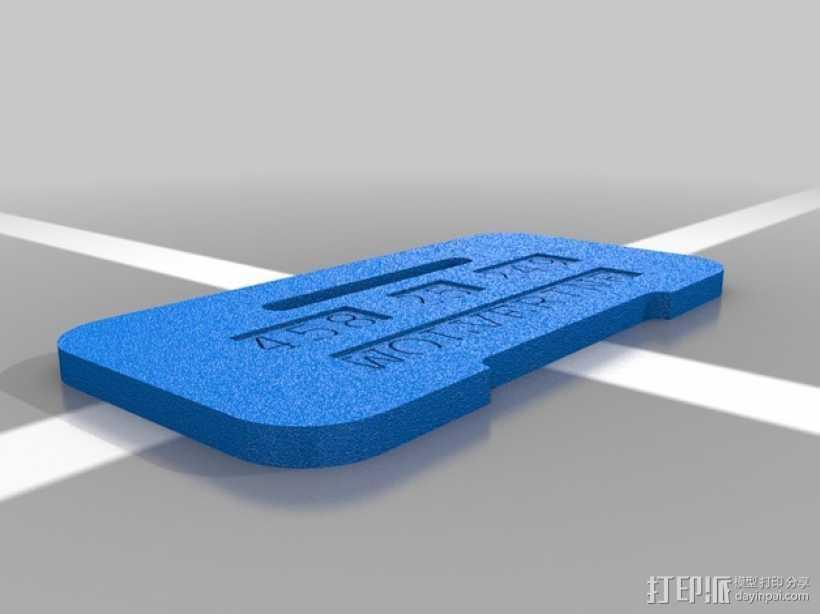 狗狗牌 3D打印模型渲染图