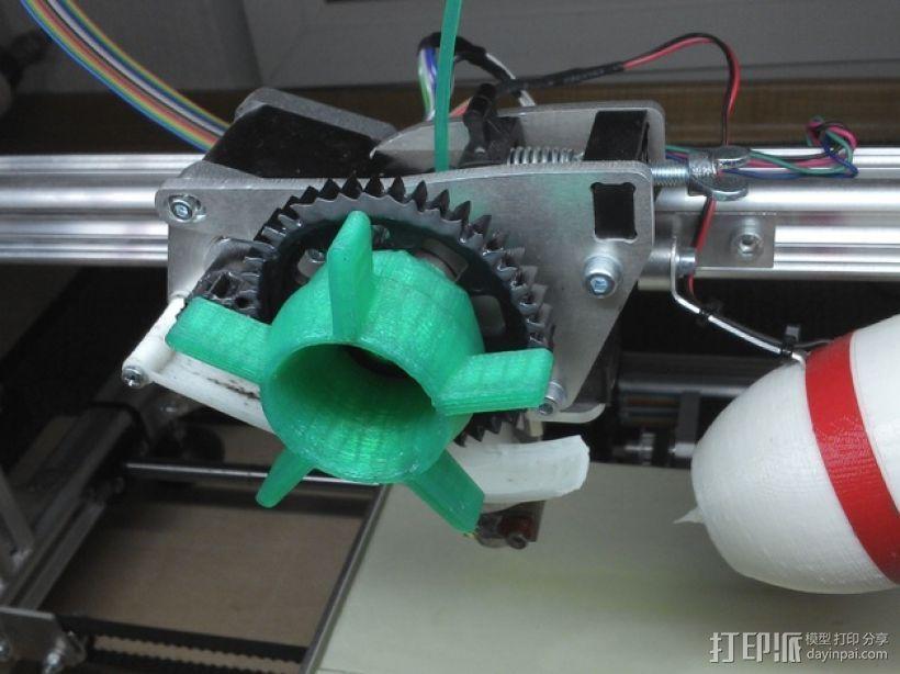 K8200挤出器 3D打印模型渲染图