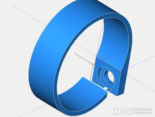 电缆固定夹 3D打印模型渲染图