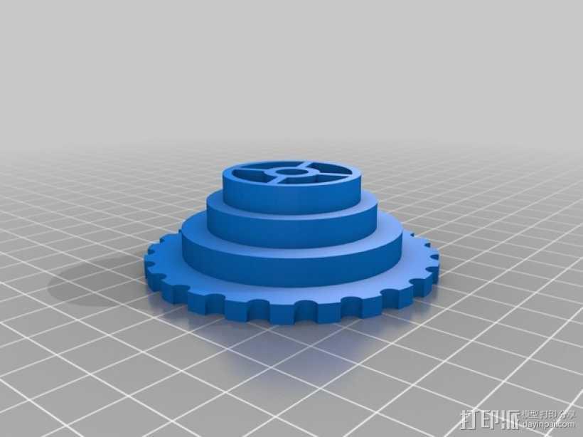 通用线轴架 3D打印模型渲染图