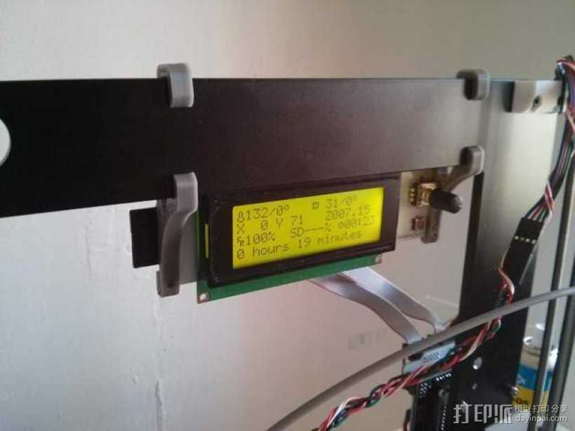 Prusa i3  LCD 3D打印模型渲染图