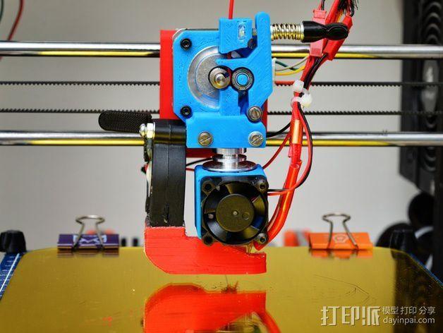 E3D 直接驱动挤出器 3D打印模型渲染图