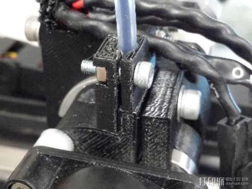 M2挤出器 3D打印模型渲染图