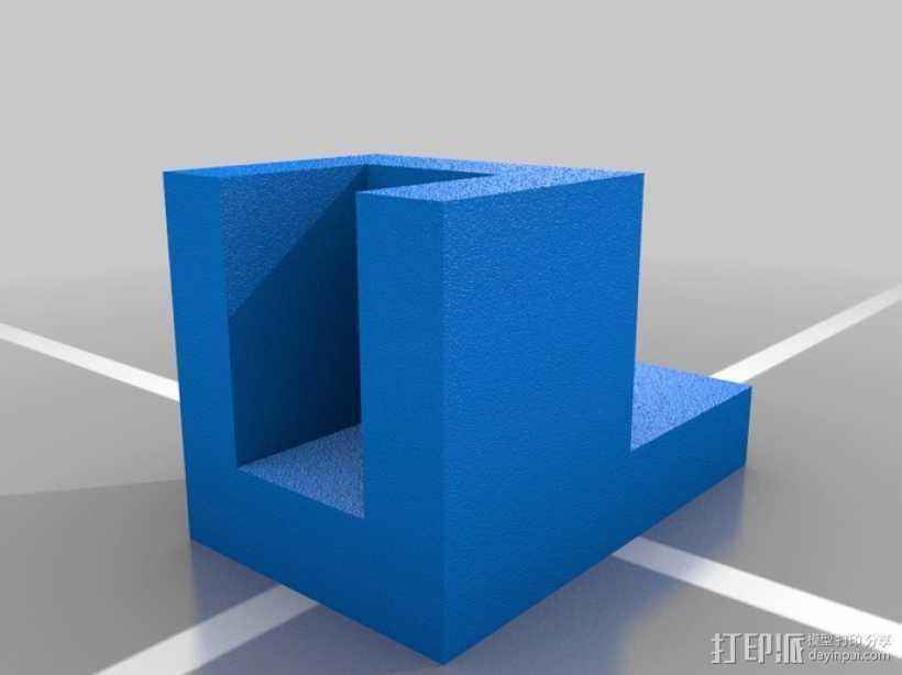 简易板凳垫板 3D打印模型渲染图