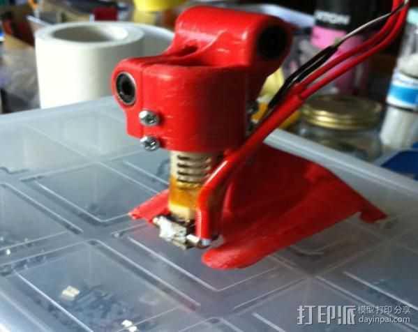 集成喷头 3D打印模型渲染图