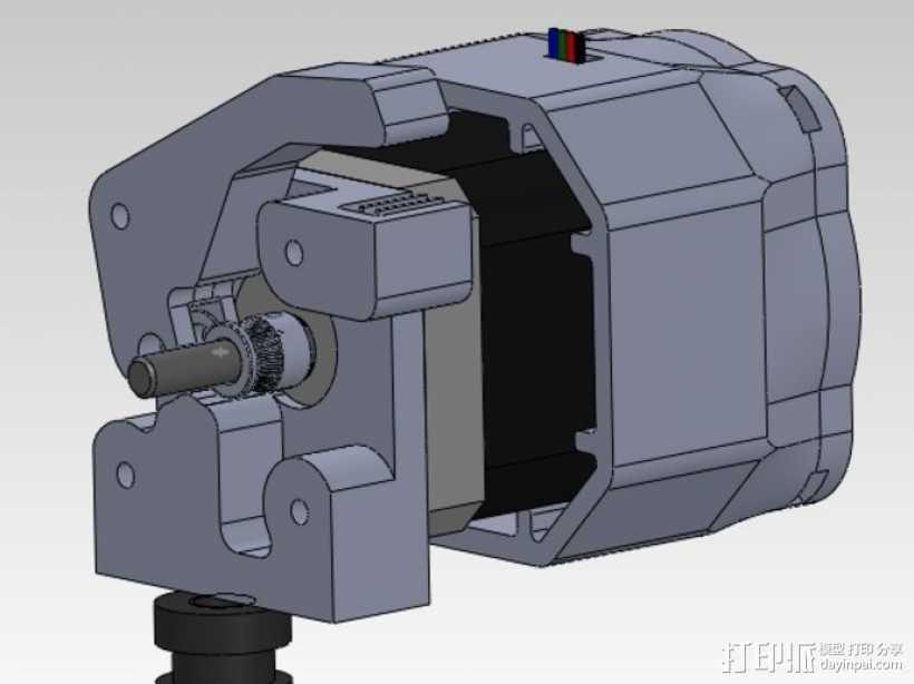 直接驱动挤出器 MK8 3D打印模型渲染图