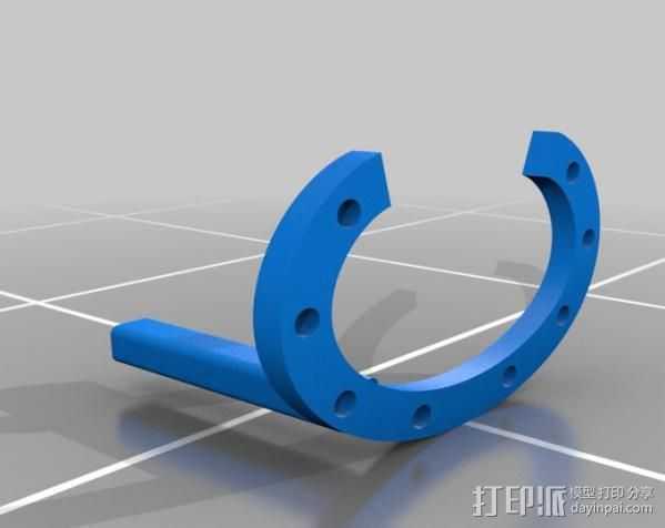 3D打印控制环 3D打印模型渲染图