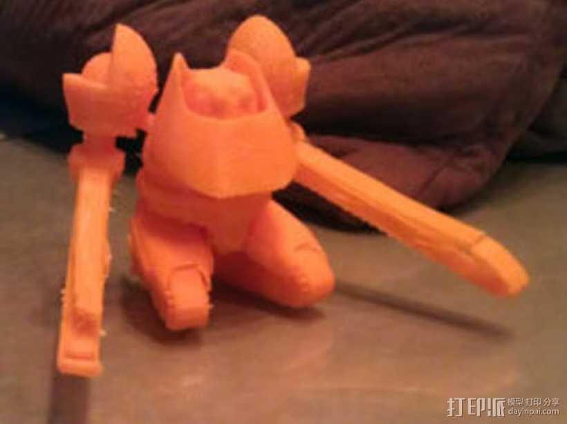 码头机器人摆件 3D打印模型渲染图