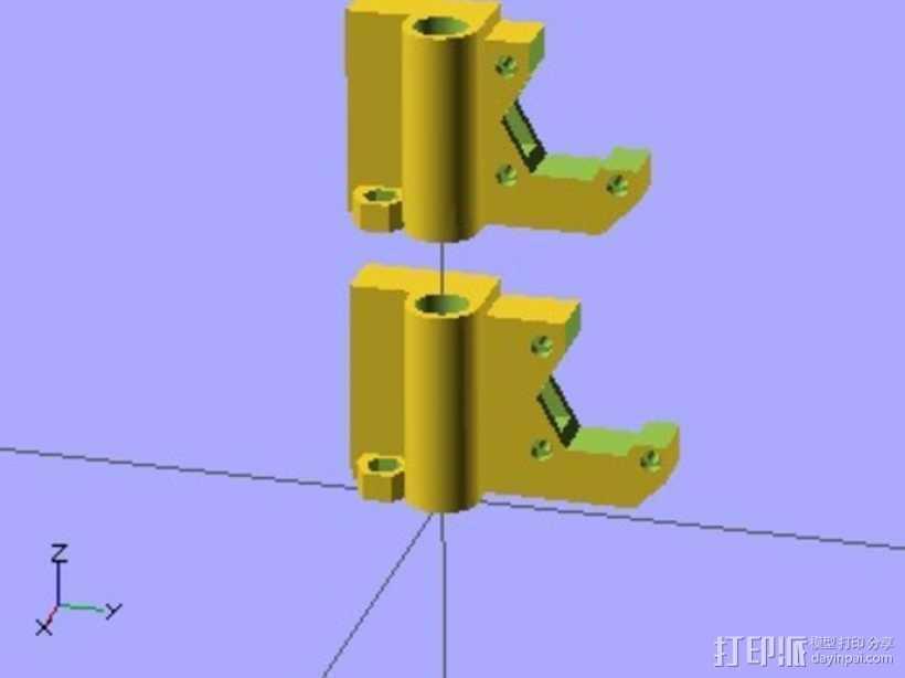 Prusa i3 3D打印模型渲染图