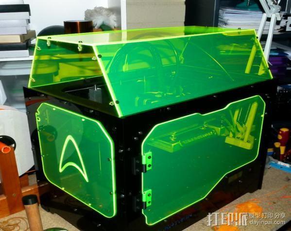 保护壳 3D打印模型渲染图