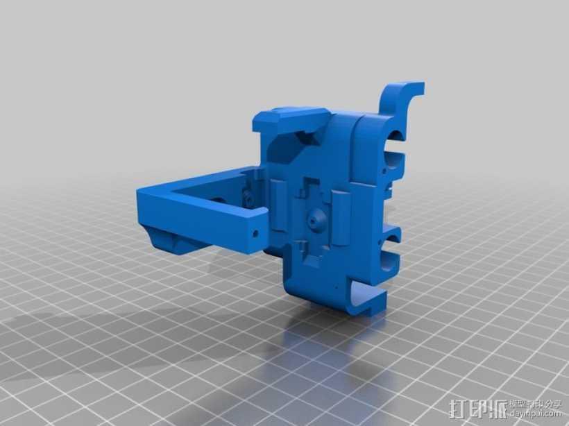 迷你挂载 3D打印模型渲染图