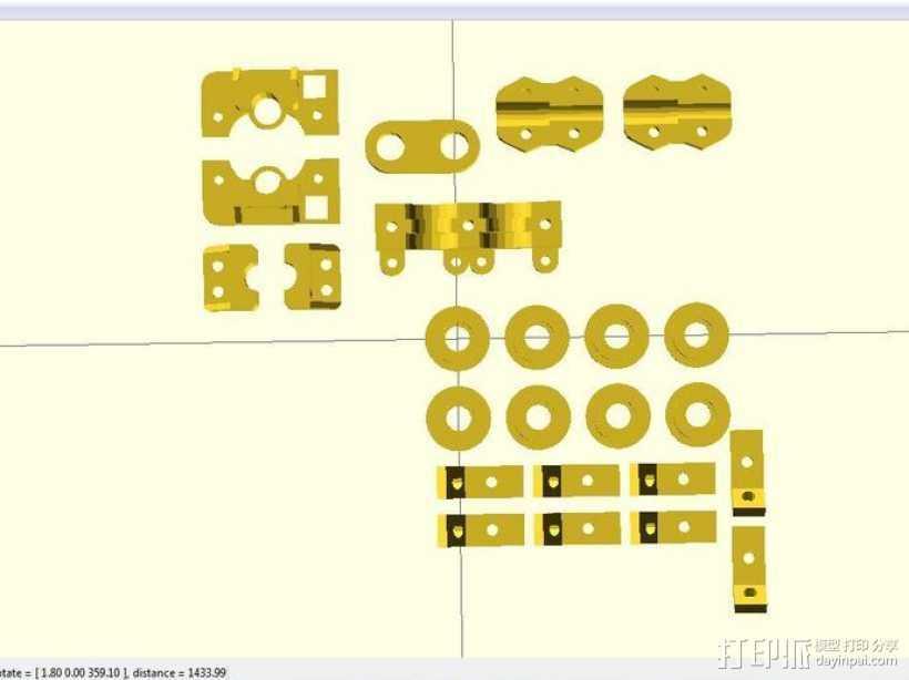 i3 模板升级 3D打印模型渲染图
