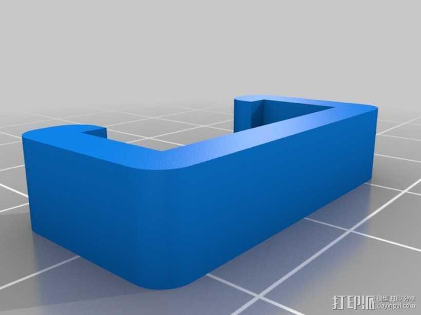 挤压器适配器 3D打印模型渲染图