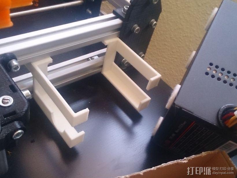 电源支架 3D打印模型渲染图