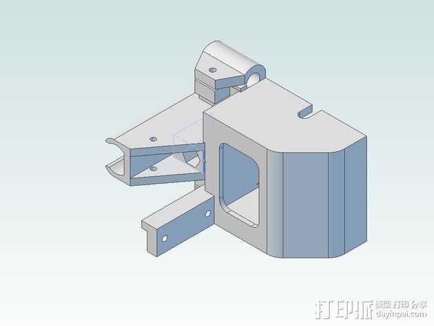 V3住房摆件 3D打印模型渲染图